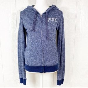 Pink Victoria's Secret Blue Hoodie Sweatshirt S